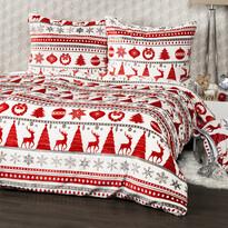 Lenjerie micro-flanelă 4Home Christmas Time, roșu