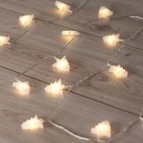 DecoKing  Karácsonyi fényfüzér Fák fehér, 20 LED