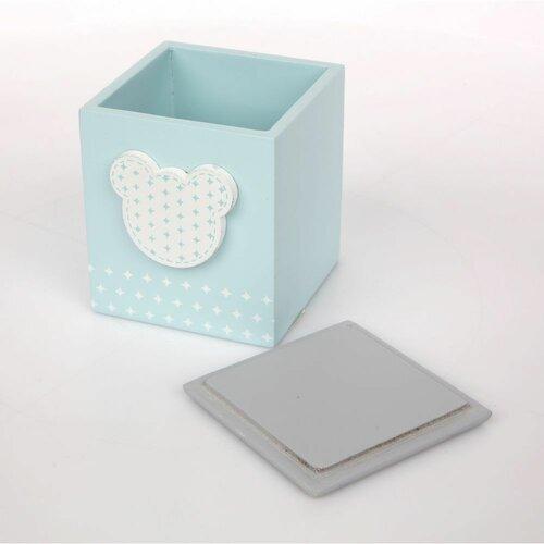 Altom Drevená krabička Medvedík, 9 x 10,5 x 10 cm