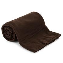 Fleecová deka UNI tmavohnedá, 150 x 200 cm