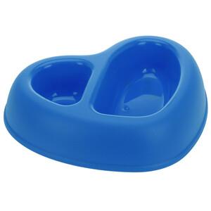 Dvojitá miska pro zvířata Animali, modrá