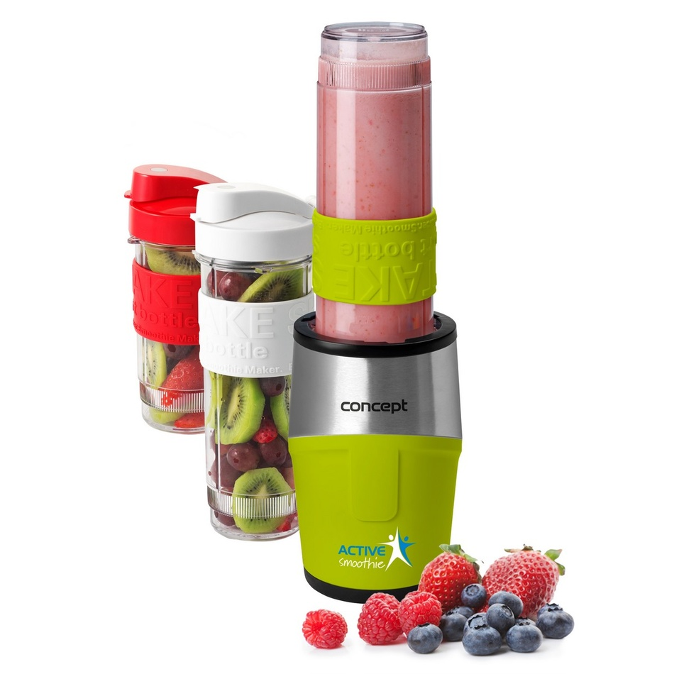 Concept SM3387 smoothie maker  Active smoothie 500 W + láhve 2 x 570 ml + 400 ml, zelená