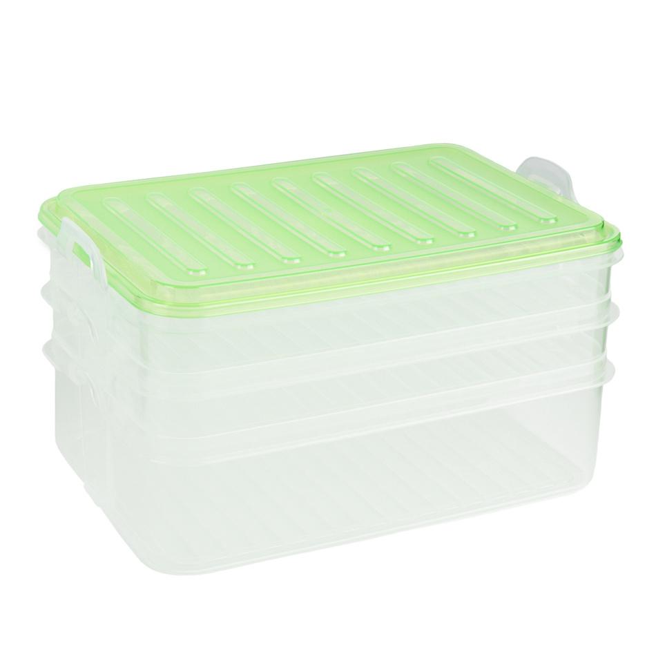 3patrový box na potraviny, zelená