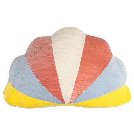 Tvarovaný polštářek Mráček barevná, 45 x 30 cm