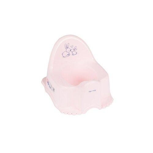 TEGA Hrajúci detský nočník protišmykový Bunny ružový