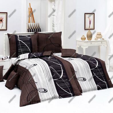 Matějovský bavlnené obliečky Eternity Choco, 140 x 200 cm, 70 x 90 cm