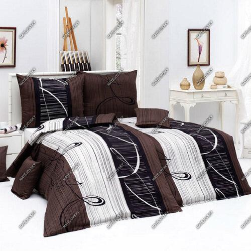 Matějovský bavlnené obliečky Eternity Choco, 220 x 210 cm, 2 ks 70 x 90 cm