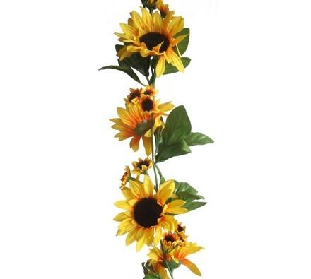 Umělá květina slunečnice girlanda