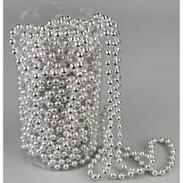 Ghirlanda de Crăciun, din perle, argintiu, 15 m