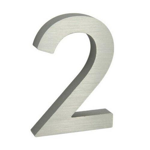 Număr aluminiu de casă suprafață șlefuită 3D imagine 2021 e4home.ro