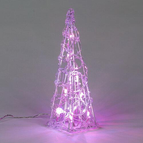 LED vianočný stromček pyramída farebné svetlo