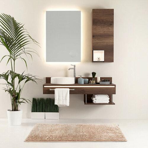 AmeliaHome Dywanik łazienkowy Bati jasnobrązowy, 60 x 90 cm
