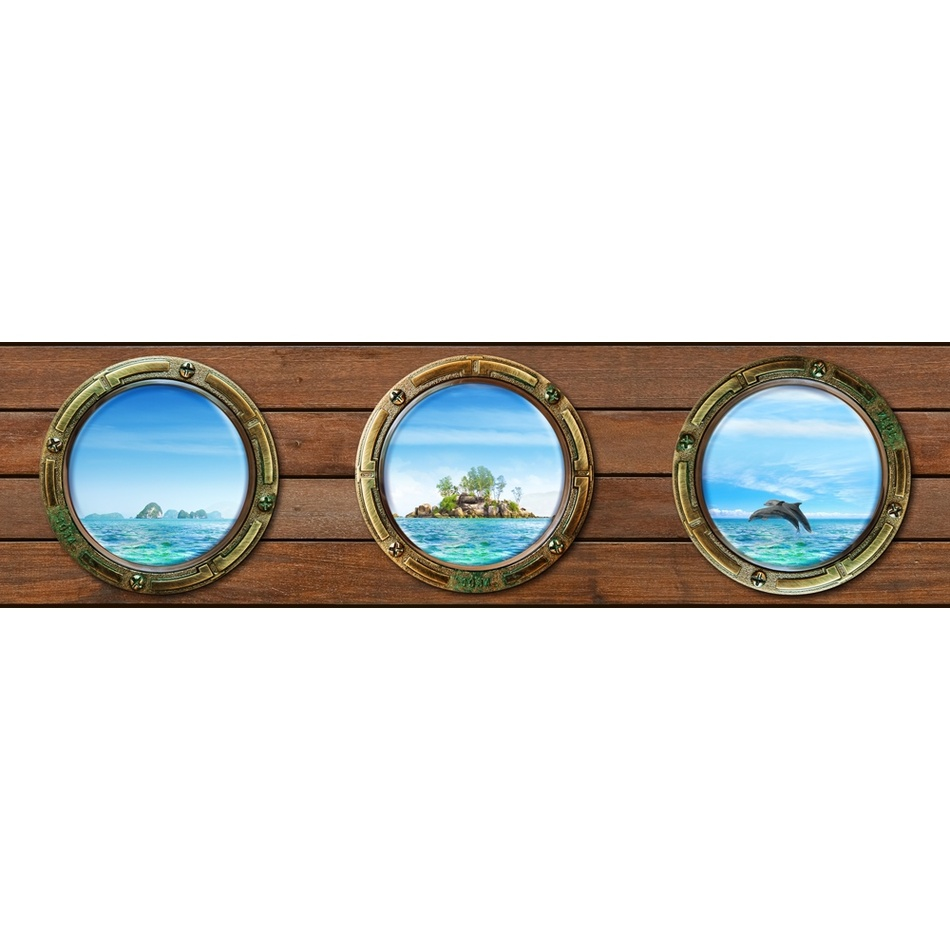 AG Art Samolepicí bordura Ostrov, 500 x 14 cm