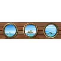 Bordură autoadezivă Insulă, 500 x 14 cm