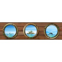 Samolepicí bordura Ostrov, 500 x 14 cm