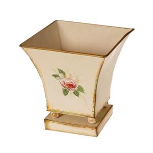 Obal na květináč kovový Loira, 18 cm