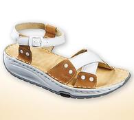 Orto Plus Dámské sandály s aktivní podrážkou vel.  36 hnědobílé