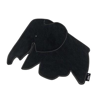 Podložka pod myš Elephant 25 cm, černá kůže