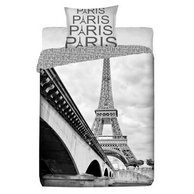 Bavlněné povlečení Paříž, 140 x 200 cm, 70 x 90 cm