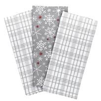 Vánoční kuchyňská utěrka Vločka šedá, 45 x 70 cm, sada 3 ks