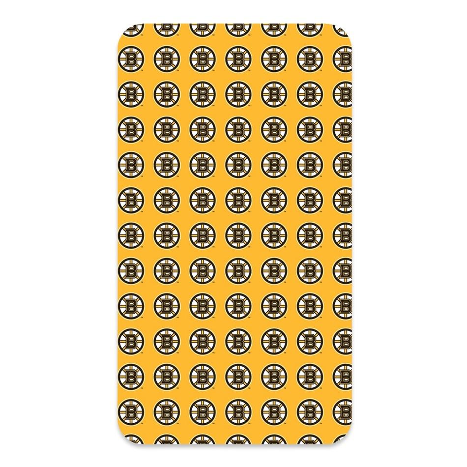 BedTex Bavlněné prostěradlo NHL Boston Bruins, 90 x 200 cm