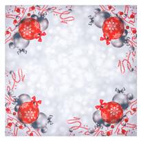 Vánoční ubrus Vánoční ozdoby, 85 x 85 cm