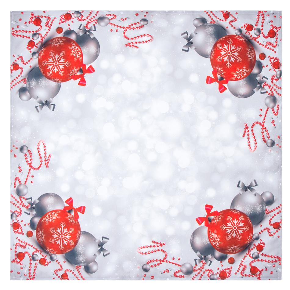 Forbyt Vánoční ubrus Vánoční ozdoby, 85 x 85 cm, 85 x 85 cm