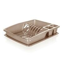 Banquet Odkapávač na nádobí myKitchen, 38 x 31 x 7,5 cm, hnědá