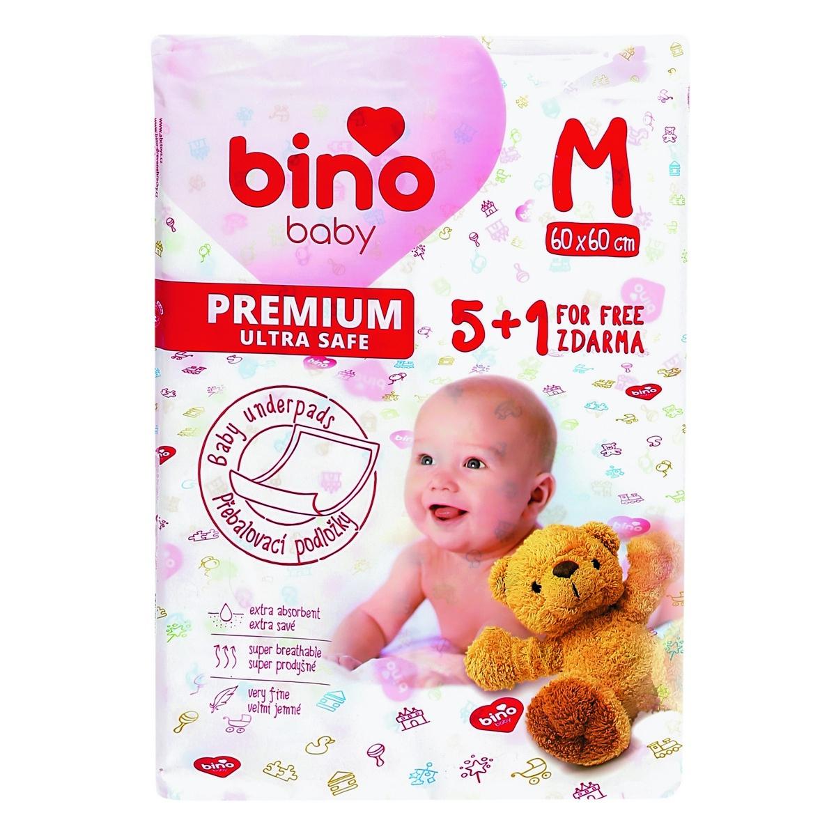 Bino Baby Přebalovací podložka Premium M 6 ks, 60 x 60 cm