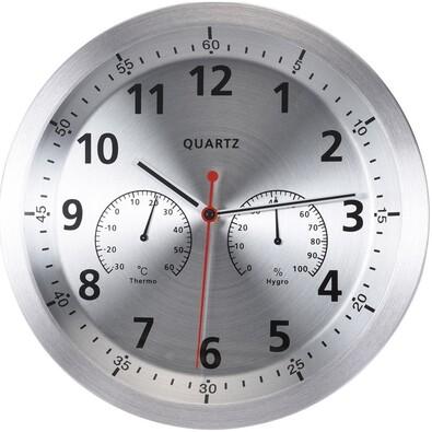 Zegar ścienny Fremont srebrny, 35 cm