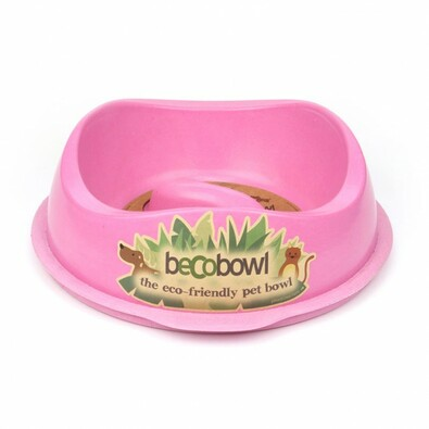BecoThings Slow Feed ekologická miska pre psa, ružová