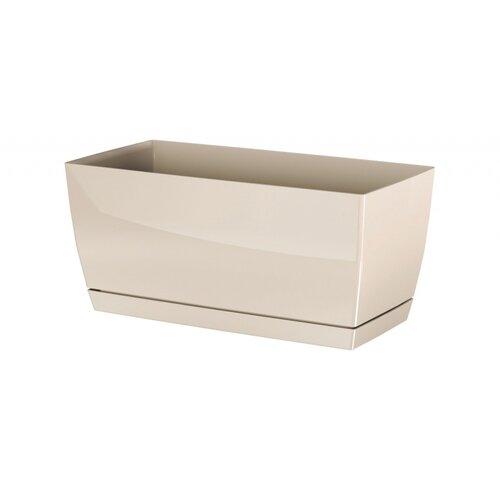 Fotografie Prosperplast Plastový truhlík Coubi Case s miskou krémová, 24 cm