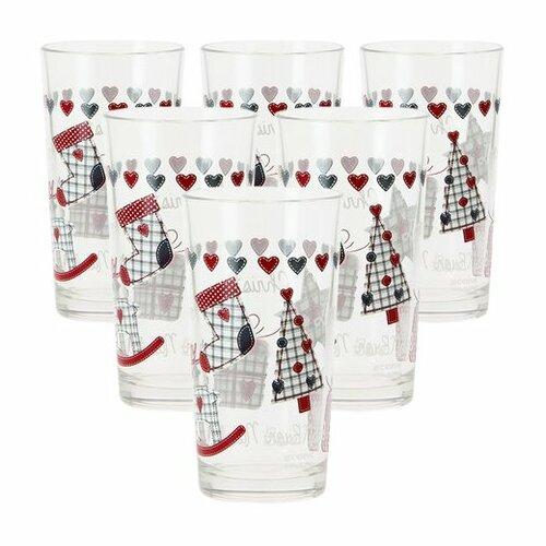 Mäser 6-dielna sada pohárov na long drink CHRISTMAS GIFT, 250 ml