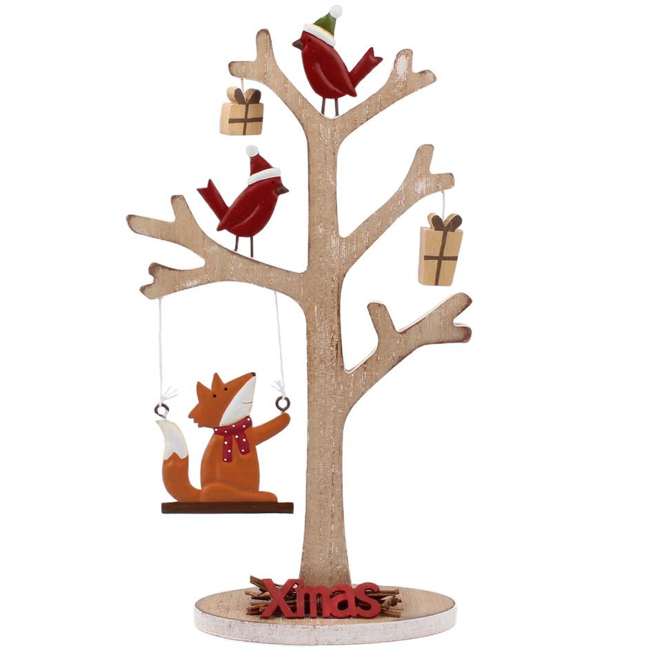 Vánoční dřevěný stromek Xmas, hnědá