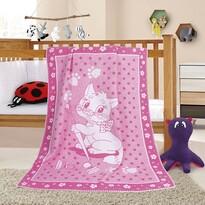Pătură de copii Nela Pisicuță, 100 x 140 cm