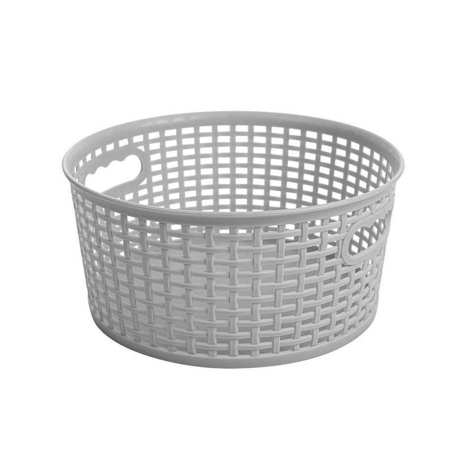 Okrúhly košík RATTAN CLASSIC 4,5 l, sivá