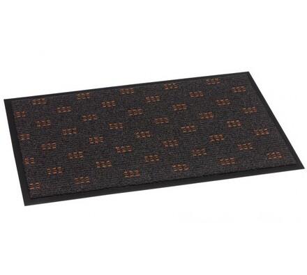 Venkovní rohožka Mozaika, hnědá, 60 x 90 cm