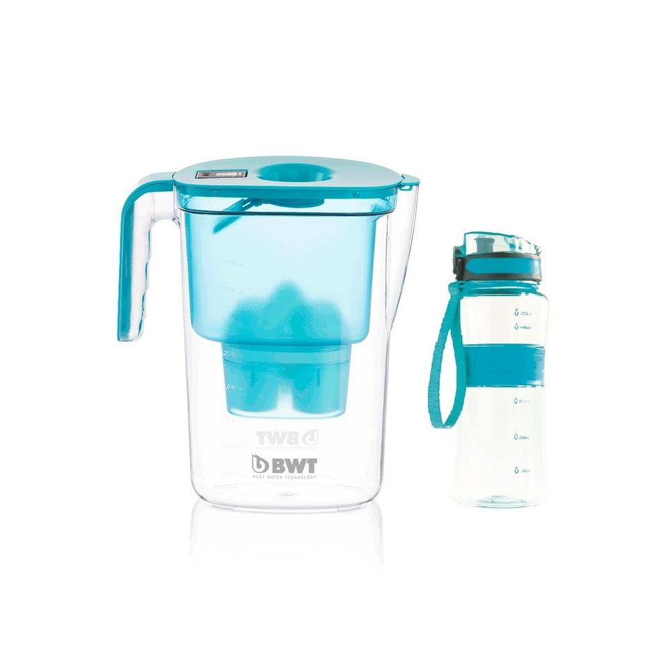 BWT Filterační konvice Vida 2,6 l, modrá + dárek outdoor sportovní láhev