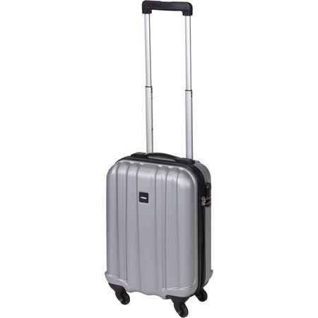 Kufr na kolečkách šedá, 33 x 20 x 53 cm