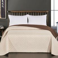 DecoKing Axel ágytakaró, barna/krémszínű, 220 x 240 cm