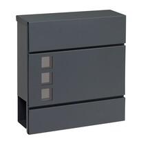 Poštovní ocelová schránka s okénky BK.932.G.AM