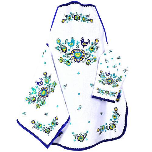 Utierka Folklór modrá, 45 x 70 cm, sada 3 ks
