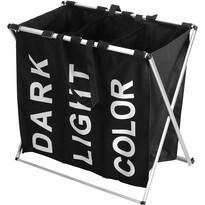 Szennyestartó kosár, 61 x 35 x 60 cm, fekete