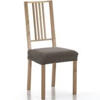 Husă elastică de șezut scaun, Set maro, set 2 buc.