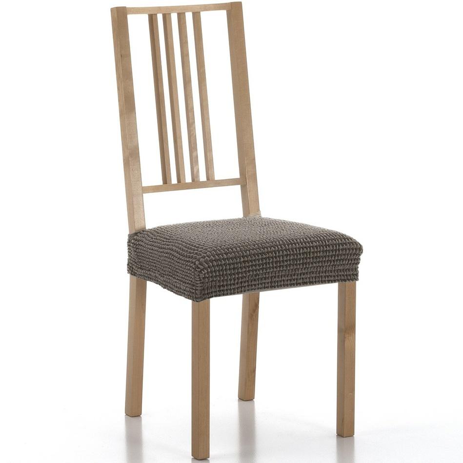 Forbyt Multielastický potah na sedák na židli Sada hnědá, sada 2 ks
