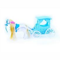 Kočiar s koňom Zimné kráľovstvo, 37 cm