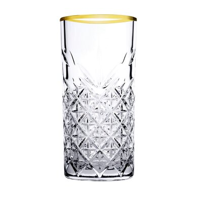 Mäser 4dílná sada sklenic na long drink Timeless Golden Touch, 450 ml