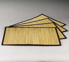 Podkładki na stół Trawa pampasowa beżowe, 30 x 45cm, zestaw 4 szt.