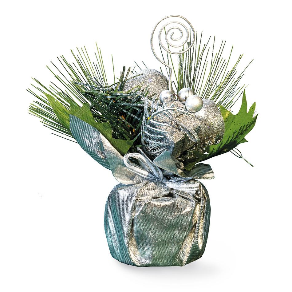 Stolní dekorace stříbrná, HTH