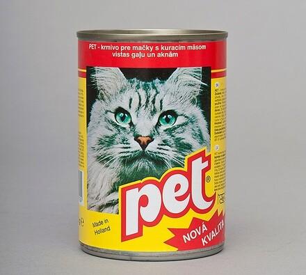 Pet Katze kostky s drůbežím masem, 410g
